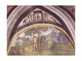 Adam and Eve after Sinning of Hall of Creation, Palazzo Besta, Teglio, Italy Giclee Print