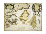 Map of Eastern Canada and Newfoundland, 1692 Giclee Print