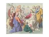 Jesus Blessing the Children Wydruk giclee