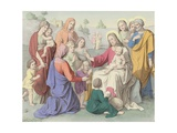 Jesus Blessing the Children Giclee Print