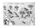 Map of the Coast of Guyana, Illustration from 'Regni Guianae' Giclee Print