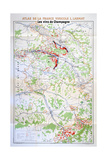 Map of the Champagne Region Impression giclée