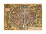 Map of Paris from Civitates Orbis Terrarum Gicléetryck