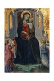 Madonna Enthroned and Child with Two Angels Giclee Print