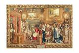 Louis XIV Receiving the Papal Legate Cardinal Chigi at Fontainebleau Giclee Print