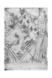 Map of the City of Jerusalem, before 1167 Giclee Print