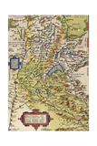 Map of Savoie, from Theatrum Orbis Terrarum, 1528-1598, Antwerp, 1570 Giclee Print