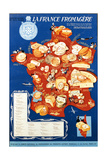 La France Fromagere', Poster Depicting the Cheeses of France Giclee Print