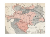 Map of Austria-Hungary in 1878 Giclee Print