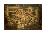 Map of Treviso, Italy Giclee Print