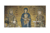 Madonna and Child Seated Between Empress Irene Ducas Giclee Print