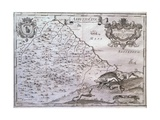 Map of Abruzzo Citeriore, Italy Giclee Print