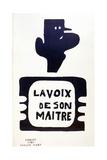 'La Voix De Son Maitre', Advertising Campaign Against General Charles De Gaulle, May 1968 Giclee Print