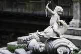 Cupid on Dolphin, Statue in Pitti Palace, Florence Photographic Print