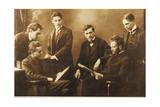 Bela Viktor Janos Bartok with His Colleague Zoltan Kodaly and the Hungarian Quartet Giclee Print