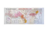 Map of the Champagne Region: Montagne De Reims and Eperon De Bouzy Giclee Print