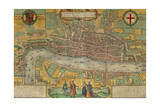Map of London from Civitates Orbis Terrarum Giclee Print