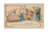 Ludwig Van Beethoven Playing at the Piano at the Age of 17 Giclee Print