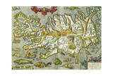 Map of Iceland, 1585 Giclee Print