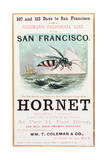 Poster Advertising the 'Hornet' Clipper Ship from New York to San Francisco Giclee Print