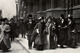 Emmeline Pankhurst Carrying a Petition from the Third Women's Parliament to the Prime Minister Photographic Print by  English Photographer