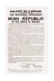 Facsimile of the Proclamation of the Irish Republic, C.1916 Giclee Print