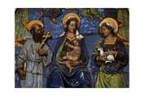 Madonna and Child with Saints, Majolica Enamel Giclee Print