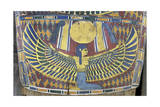 Egypt, Saqqara Necropolis, Detail of Cartonnage, Winged Maat Giclee Print