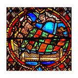 Window W6 Depicting the Magi are Warned in a Dream Giclee Print