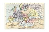 Map of Europe in the Time of Charles the Great Giclee Print