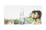 Adam and Eve in Garden of Eden Giclee Print