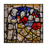 Window N4 Depicting the Works of Mercy; Visiting Prisoners Giclee Print