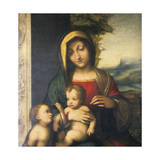 Italy, Painting of Madonna and Child with the Infant Saint John Giclee Print