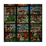 Window W8 Depicting St Helen and the Finding of the Cross with the Emperor Constantine Giclee Print