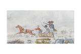 Napoleon at the Retreat from Russia in 1812, C.1812-13 Giclee Print
