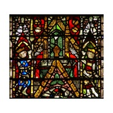Window W42 Depicting a Canopy and Royal Side Figures Giclee Print