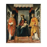 Madonna and Child Between St Faustinus and St Jovita Giclee Print