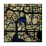 Window W46 Depicting a Donor and Priest Giclee Print