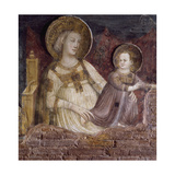 Madonna and Child, Detail from St Nicholas Receiving Cure for Possessed and Sick from Virgin Giclee Print