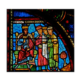 Window W0 Depicting the Magi with Herod Giclee Print
