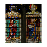 Window W134 Depicting St John Baptist and St Catherine Giclee Print