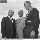 Martin Luther King and Joe Louis, 10 February 1964 Photographic Print