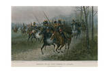 Napoleon and His Staff Surprised by Cossacks Giclee Print