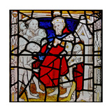 Window N4 Depicting the Works of Mercy: Clothing the Naked Giclee Print