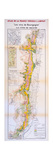 Map of the Wines of the Burgundy Region: Côte De Beaune Giclee Print