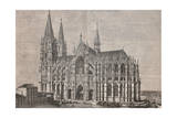 The Cathedral in Cologne from L'Illustrazione Italiana of 14th November 1880, Germany 19th Century Giclee Print