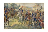 Napoleon Bonaparte on His Arrival in the Occupied City of Nice Giclee Print
