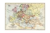 Map of Europe in 1648 after the Peace of Westphalia Giclee Print