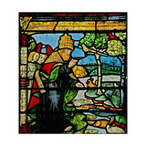 Window W1 Depicting the Creation of Fish and Fowl Giclee Print