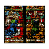 Window W236 Depicting Daniel in the Lions' Den; Nourished by the Prophet Habakkuk Giclee Print